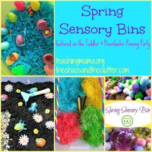 Spring Sensory Bins & Pinning Party #29