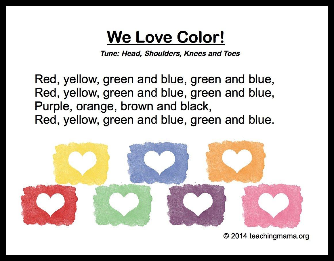 preschool songs for children 10 preschool songs about colors 581
