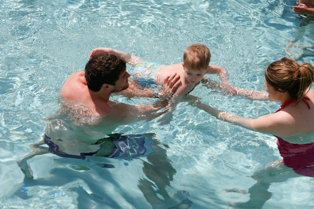 Swimming with #LittleSwimmers!