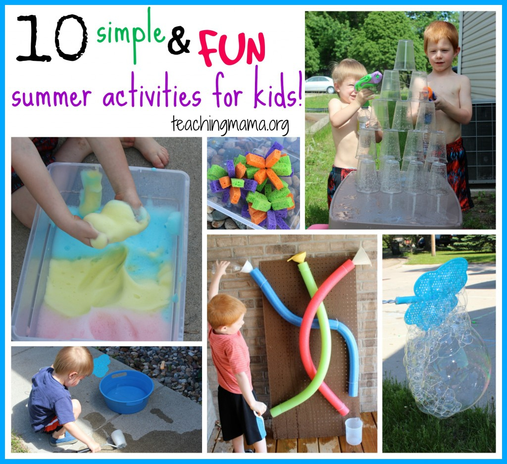 10 simple and fun summer activities for kids - Fun Kid Pictures