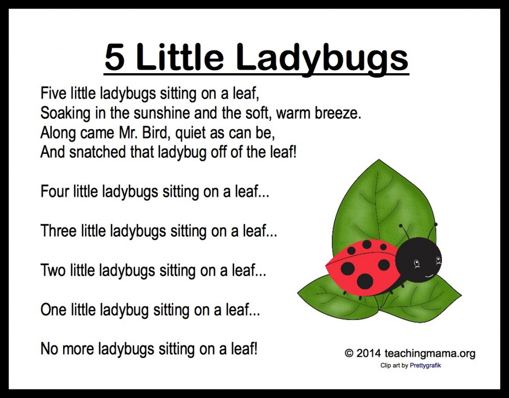 5 Little Ladybugs Song