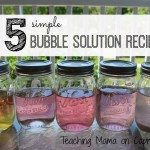 5 Simple Bubble Solution Recipes