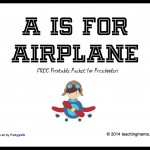 A is for Airplane — Letter A Printables