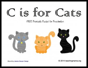 C is for Cats — Letter C Printables