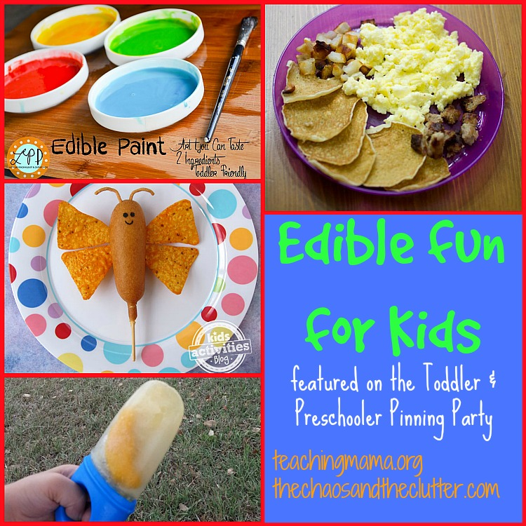Edible Fun for Kids as featured on the Toddler & Preschooler Pinning Party