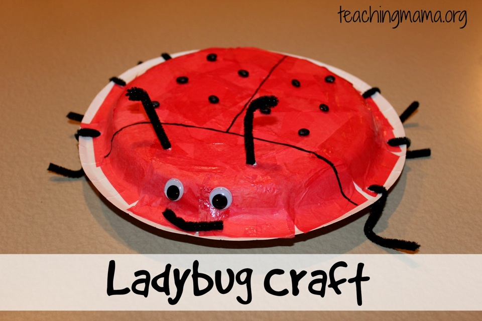 Ladybug Craft for Toddlers & Preschoolers