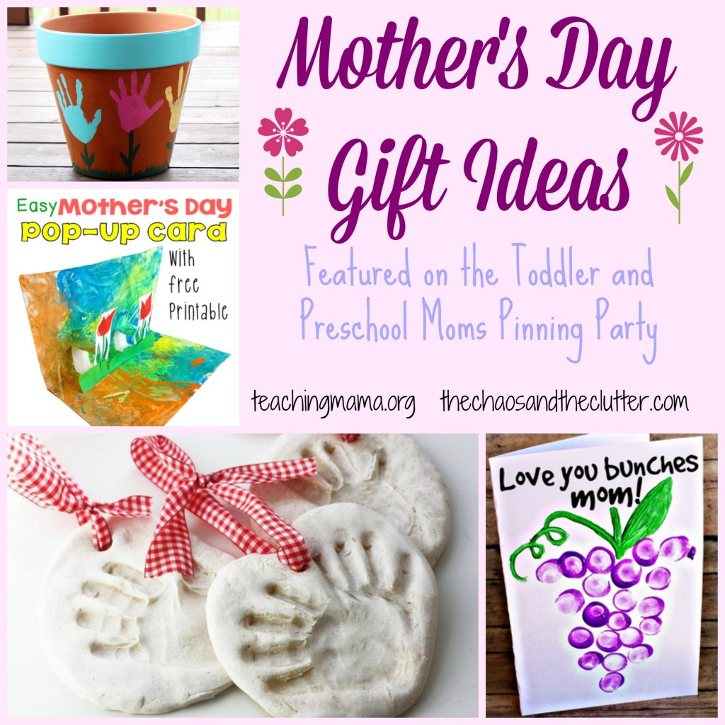 Mother's Day Gift Ideas featured on the Toddler and Preschool Pinning Party