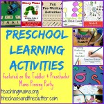 Preschool Learning Activities & Pinning Party #35