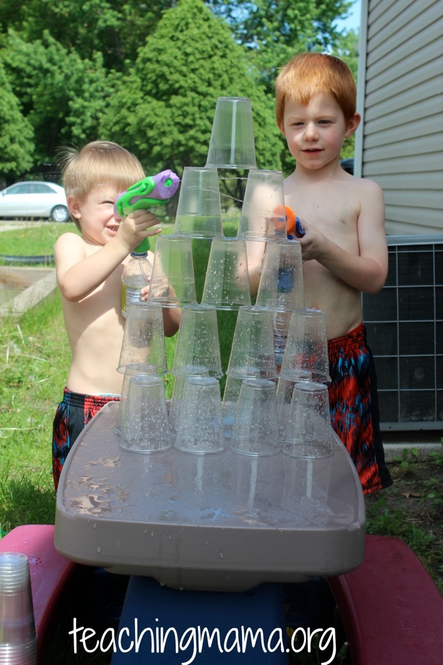 Squirting Cups with Water Guns
