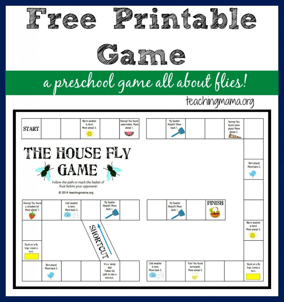 The House Fly Game -- Free Printable Game for Preschoolers
