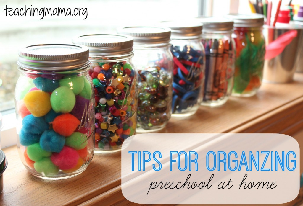 Tips for Organzing Preschool at Home