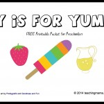 Y is for Yum — Letter Y Printables