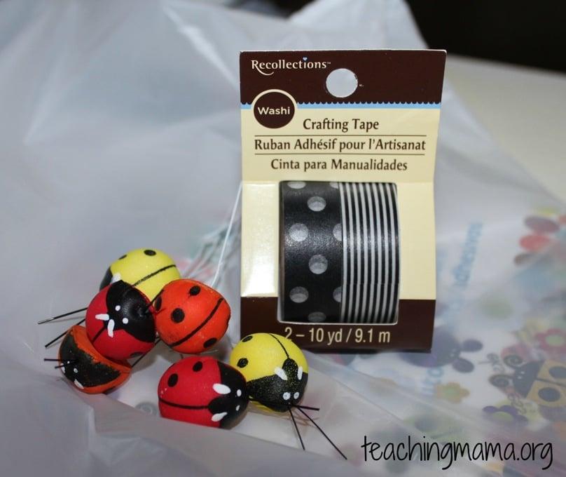 supplies for ladybug song
