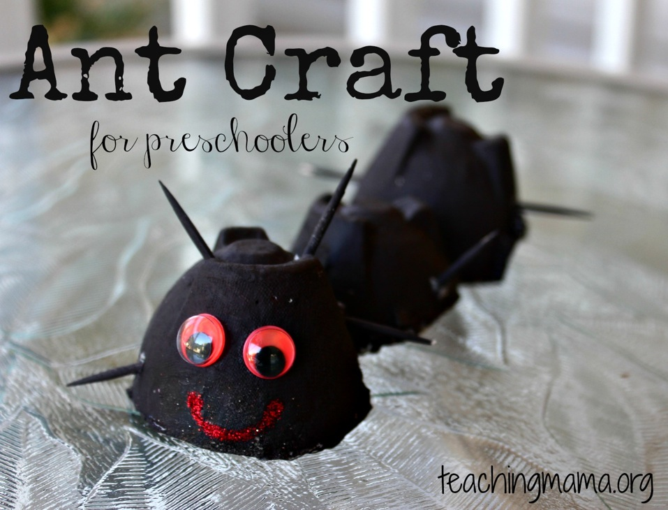 Ant Craft Ideas For Preschoolers