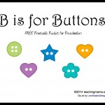 B is for Buttons — Letter B Printables