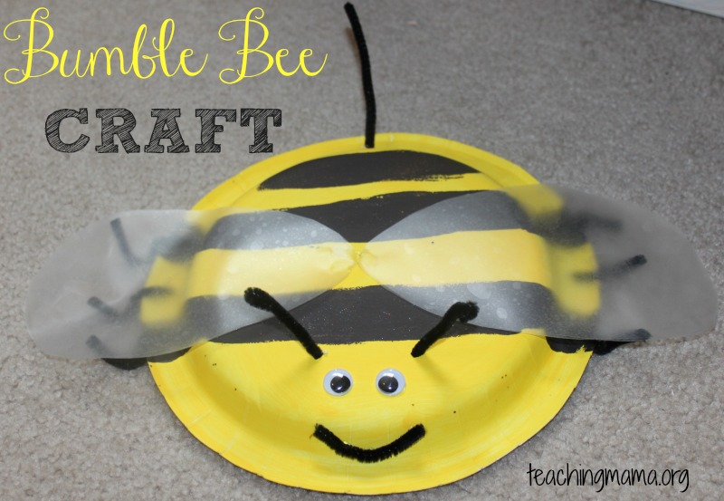 Bumble Bee Craft & Bee Craft