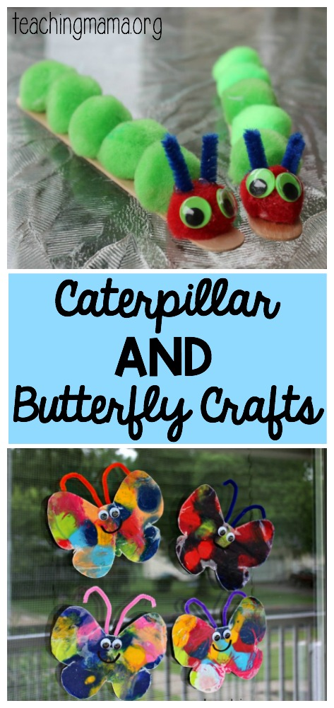 Caterpillar & Butterfly Crafts