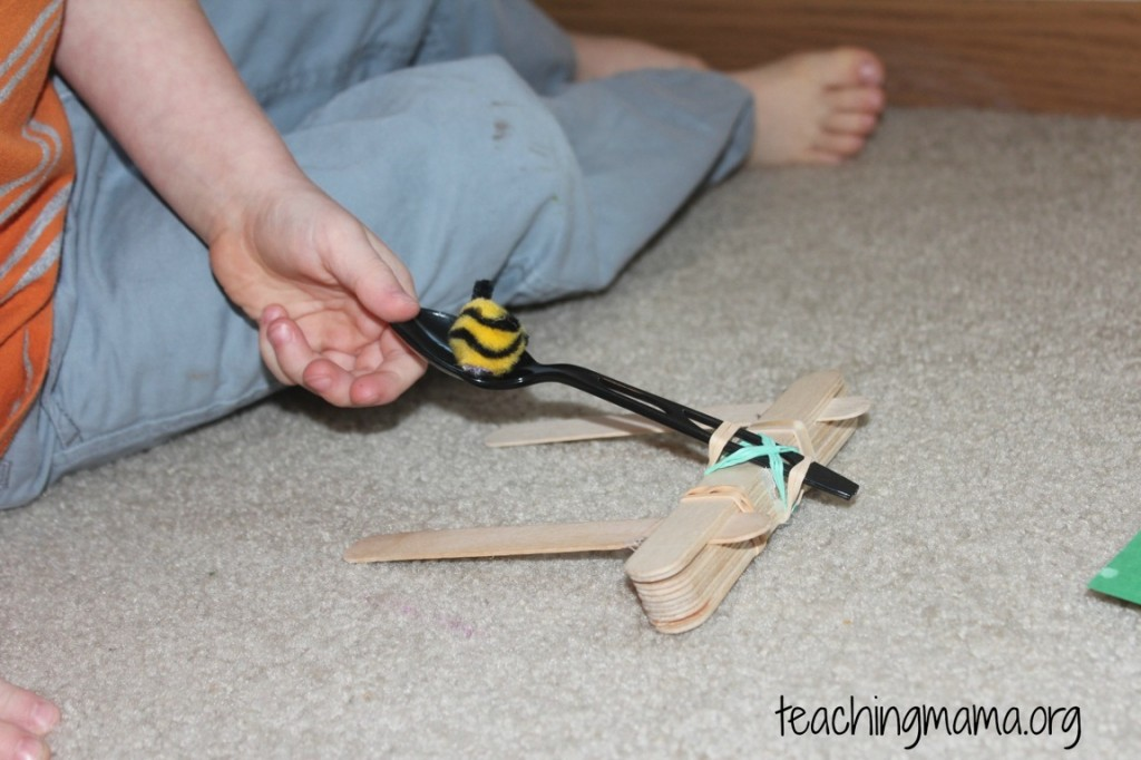 Angry Bees Game with a Catapult