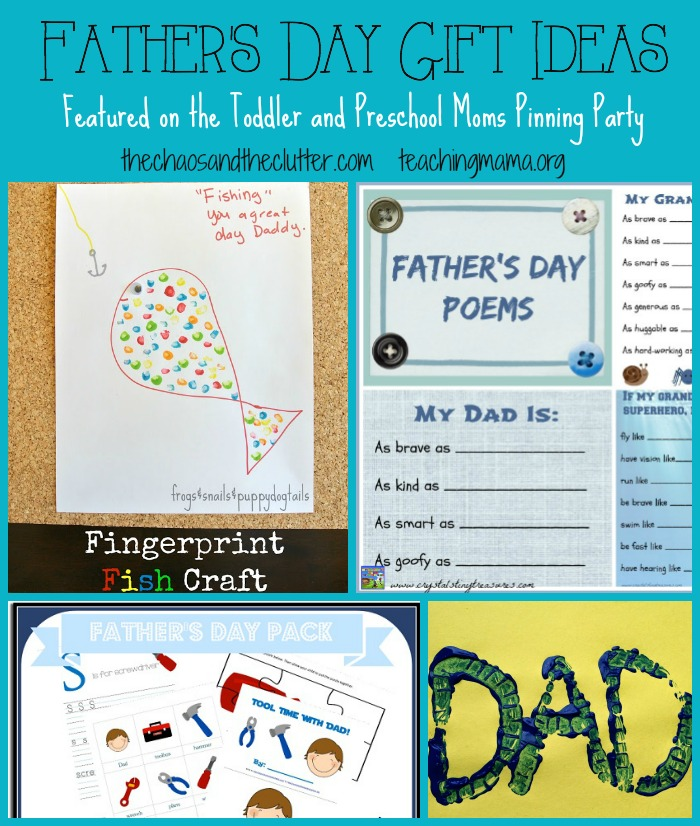 Father's Day Gift Ideas Featured on the Toddler and Preschool Pinning Party