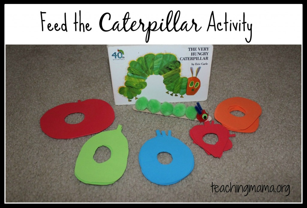 photograph relating to Very Hungry Caterpillar Printable Activities identify Feed the Caterpillar Recreation