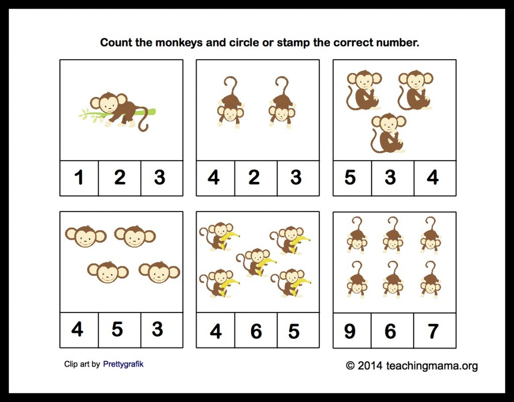 To download your printable packet click here —> M is for Monkeys