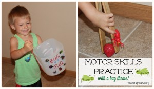 Motor Skills Practice {With a Bug Theme}