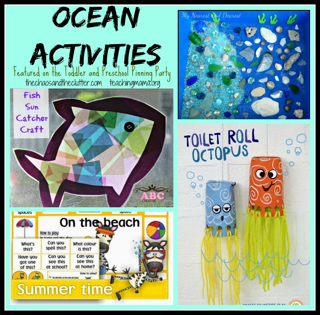 Ocean Activities Featured on the Toddler and Preschool Pinning Party