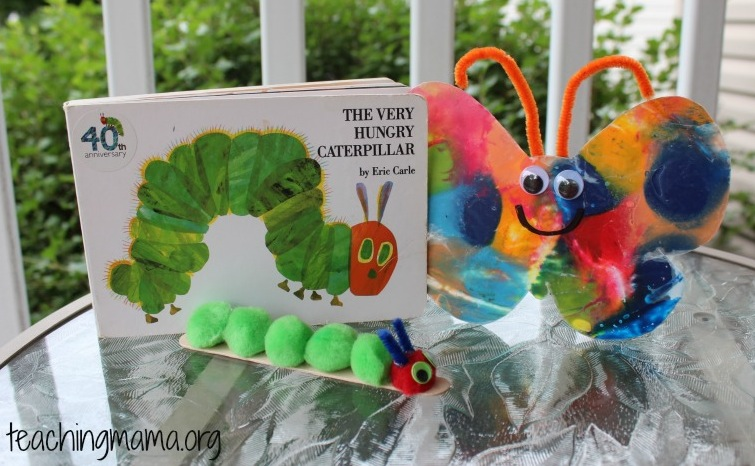 Caterpillar & Butterfly Crafts -- The Very Hungry Caterpillar