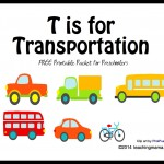 T is for Transportation — Letter T Printables