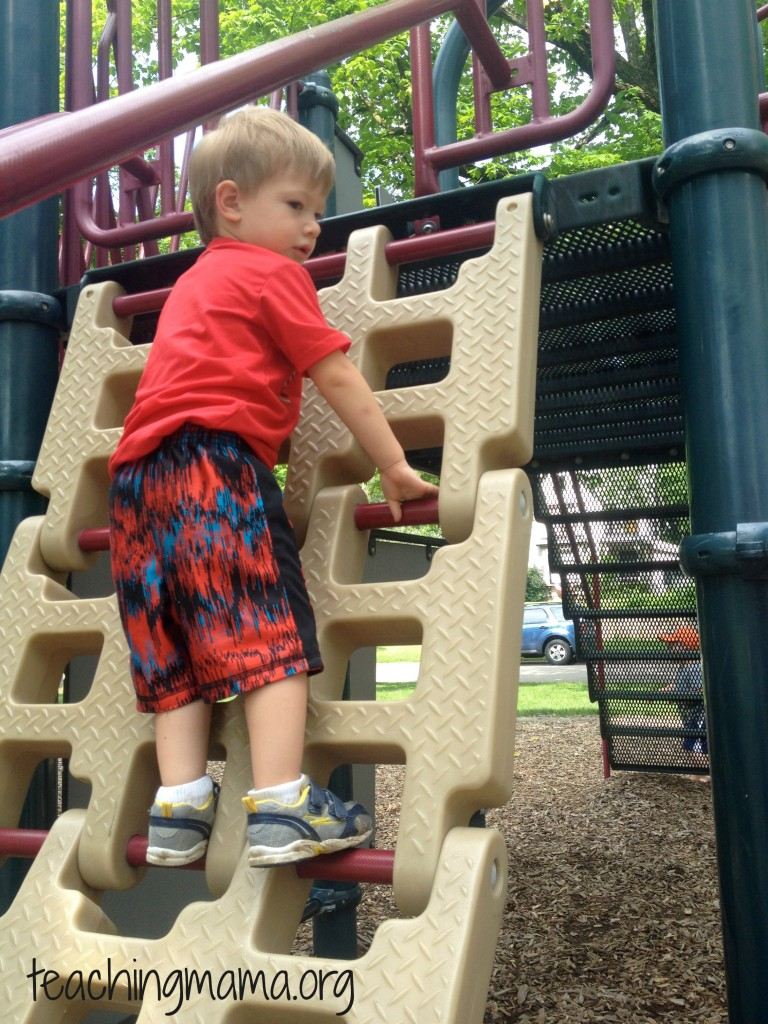 Gross motor skill: climbing