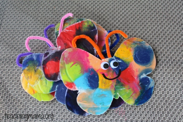 Butterfly Craft using Melted Crayons