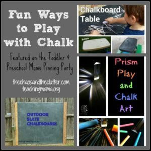 Fun Ways to Play with Chalk, as featured on the Toddler & Preschool Moms Pinning Party