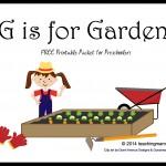 G is for Garden — Letter G Printables