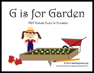 G is for Garden — Letter G Printables