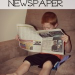 How to Keep Preschoolers Busy with Newspaper