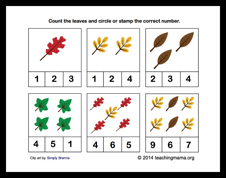Leaves Counting Cards