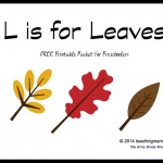 L is for Leaves — Letter L Printables