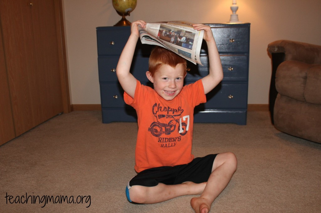 Newspaper Over Head