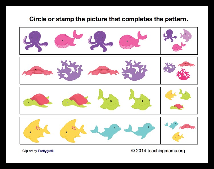 Patterns with Ocean Animals