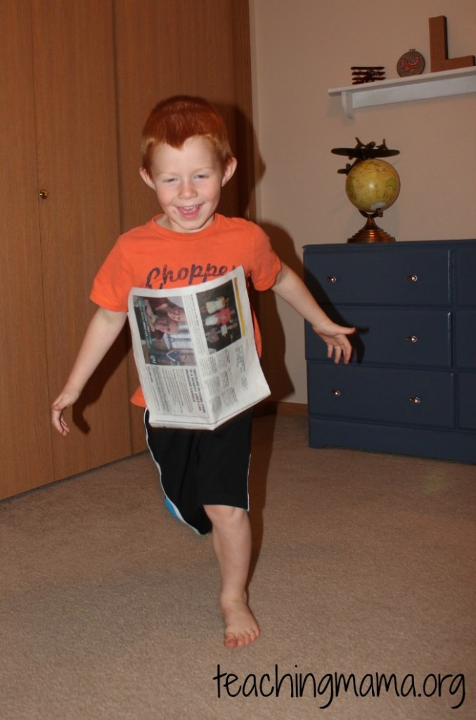 Running with Newspaper