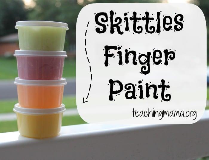 Skittles Finger Paint Recipe