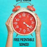 8 printable songs to start the day. Great for the classroom for community building.