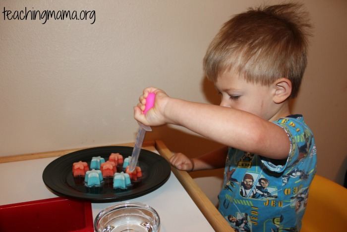 using the dropper with fizzy ice stars