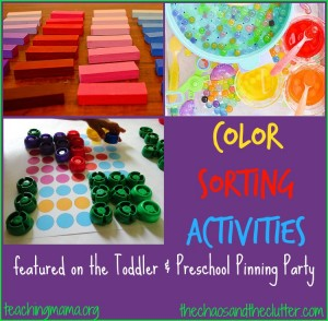 Color Sorting Activities & Pinning Party #50