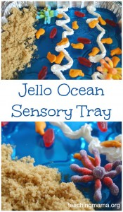 Jello Ocean Sensory Tray {Guest Post}