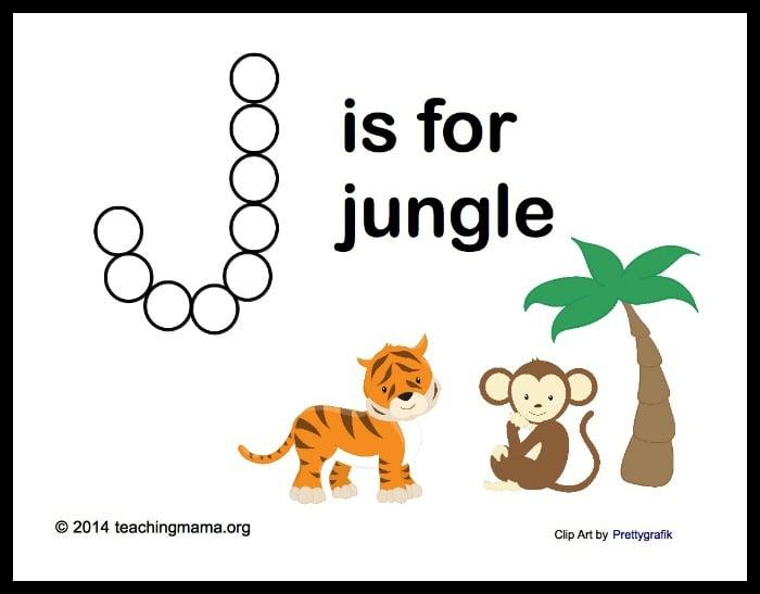 J is for Jungle -- Letter J Printables