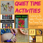 Quiet Time Activities for Kids & Pinning Party #47