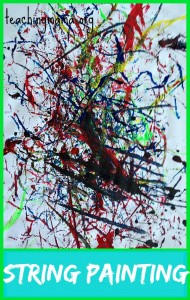 String Painting Activity {Guest Post}
