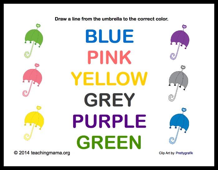 Umbrellas and Colors