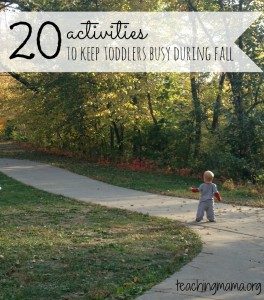 20 Activities to Keep Toddlers Busy During Fall
